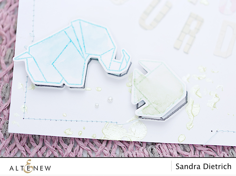 video do it yourself embellishments with Ori Kami Stamp and Die Set. By @Sandra Dietrich for @Altenew