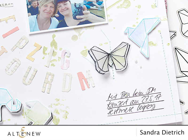 video background and embellishments for scrapbook layouts. By @Sandra Dietrich for @Altenew