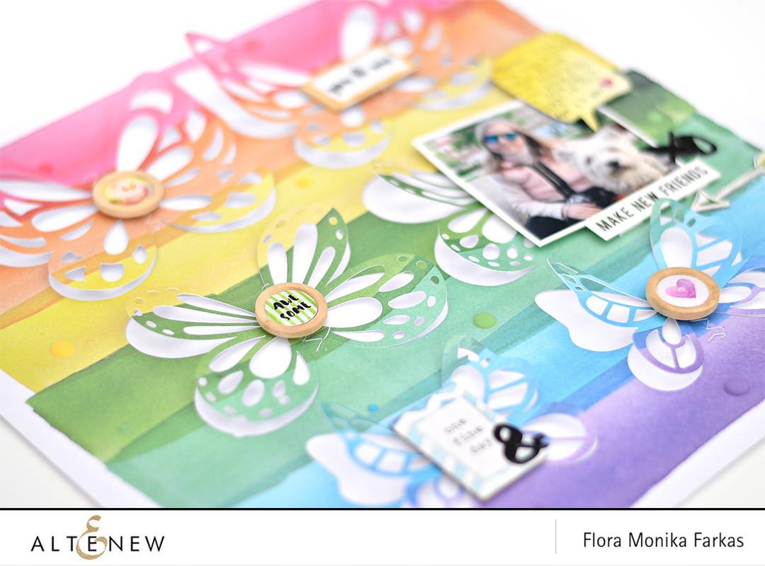 Butterflies Layout With Reflection Collection Altenew Scrapbook