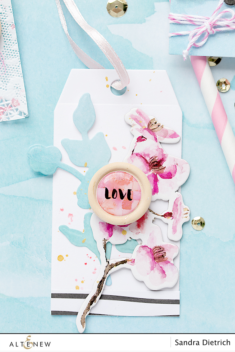 Gift tag Love with Scrapbook Reflection Collection. By @Sandra Dietrich for @Altenew