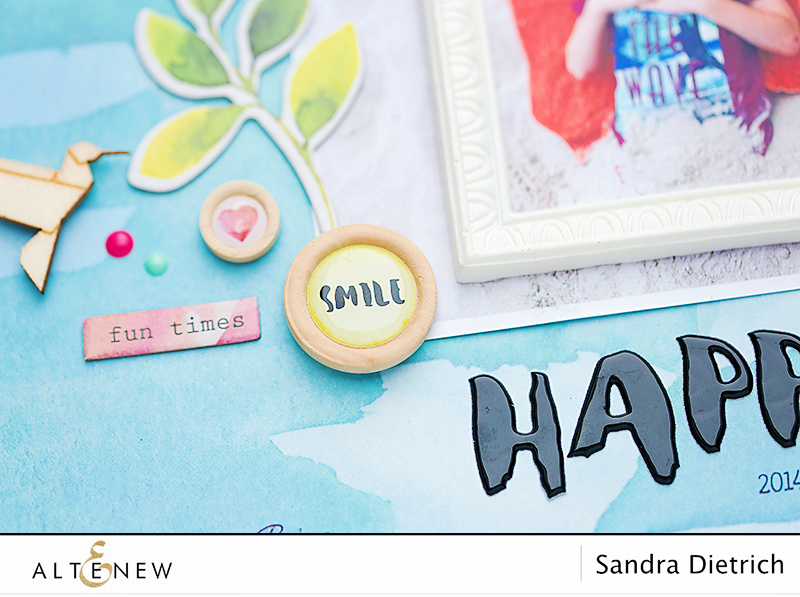 Scrapbook Layout Happy Detail with Reflection Scrapbook Collection. By @Sandra for @Altenew