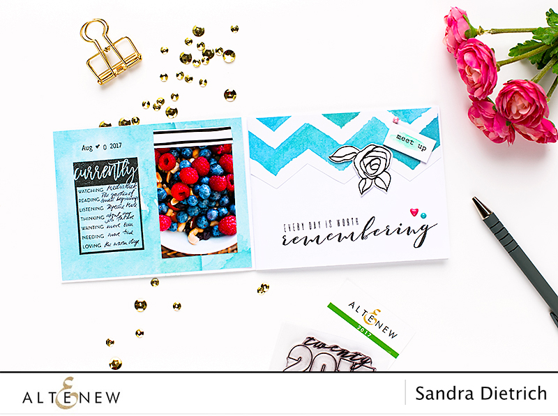 Mini Journal Stamp Focus @SandraDietrich for @Altenew