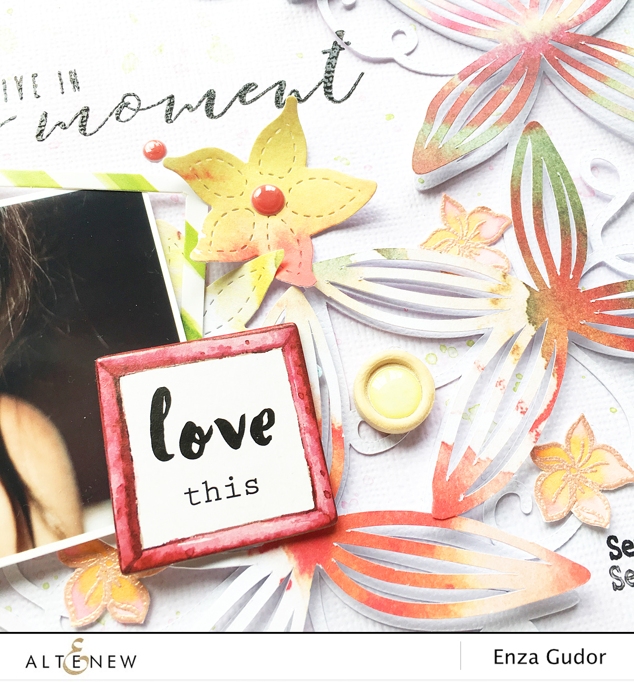 Achieving dimension on your layout. @altenewllc @enzamg #scrapbooking #memorykeeping #AltenewReflectionKit