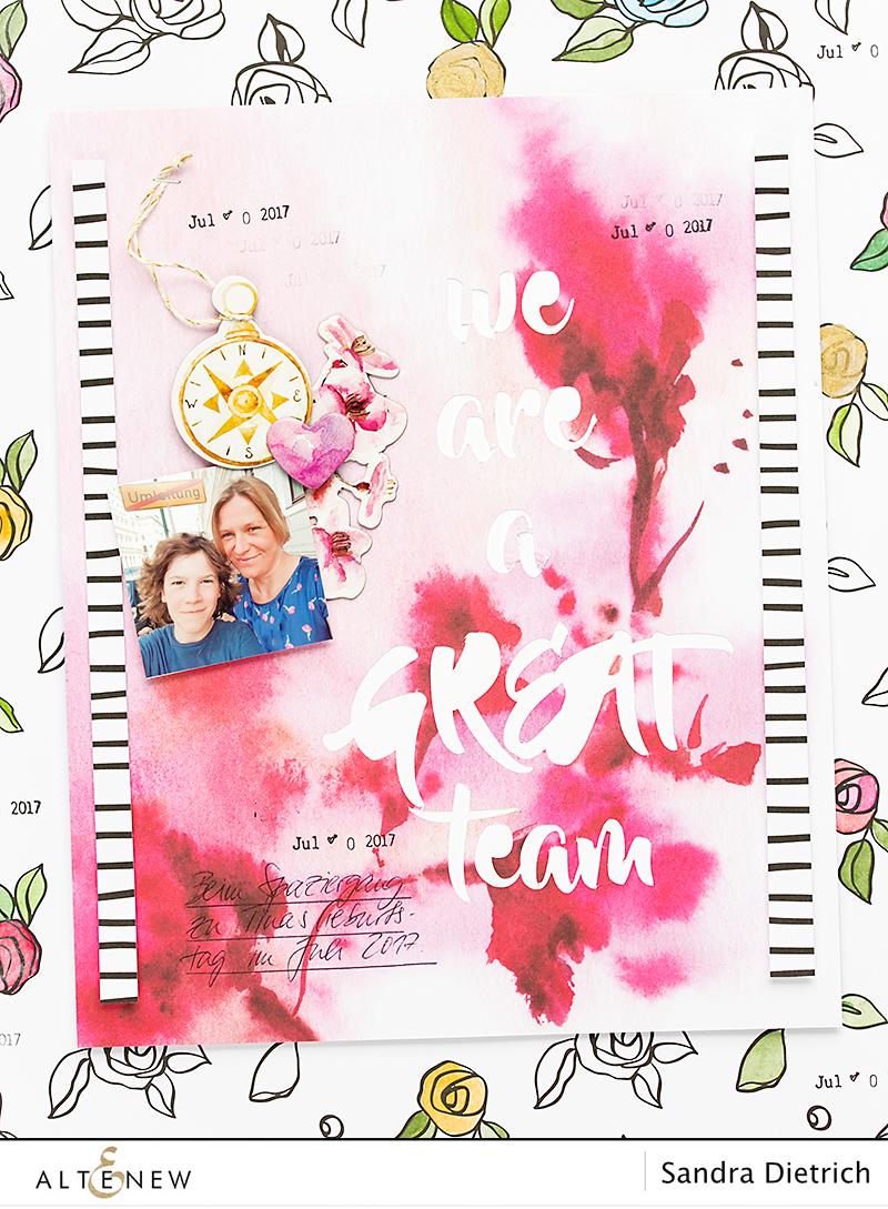 Scrapbook Page @SandraDietrich for @Altenew