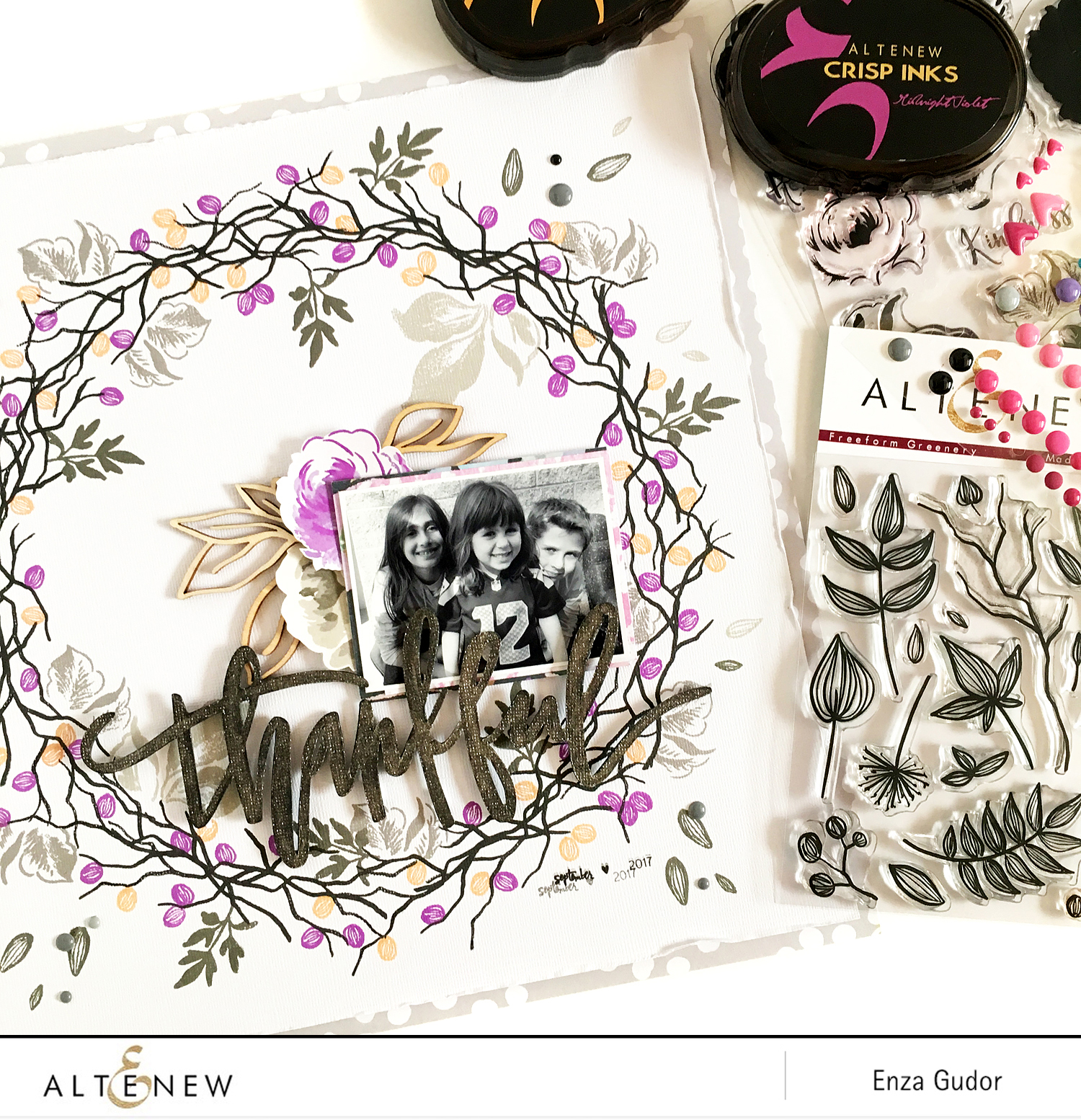 Creating your own design with stamps @Altenew @enzamg #AltenewStamps #Stamping
