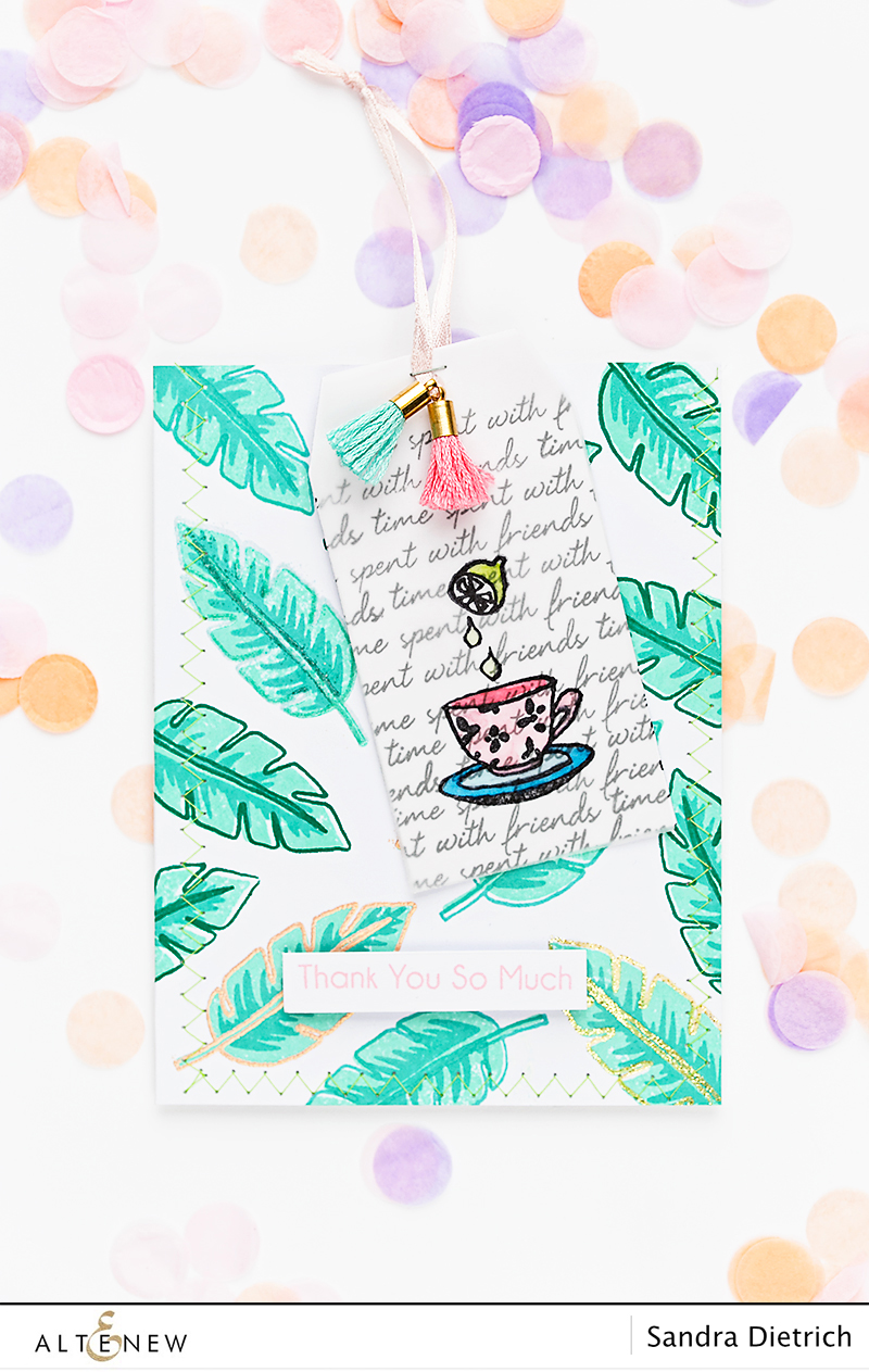 Dress your gift with a handmade stamped pocket @SandraDietrich for @Altenew