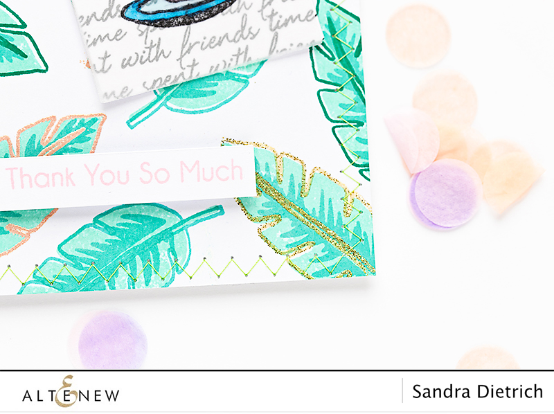 Stamping and Heat Embossing Gift Pocket @SandraDietrich for @Altenew