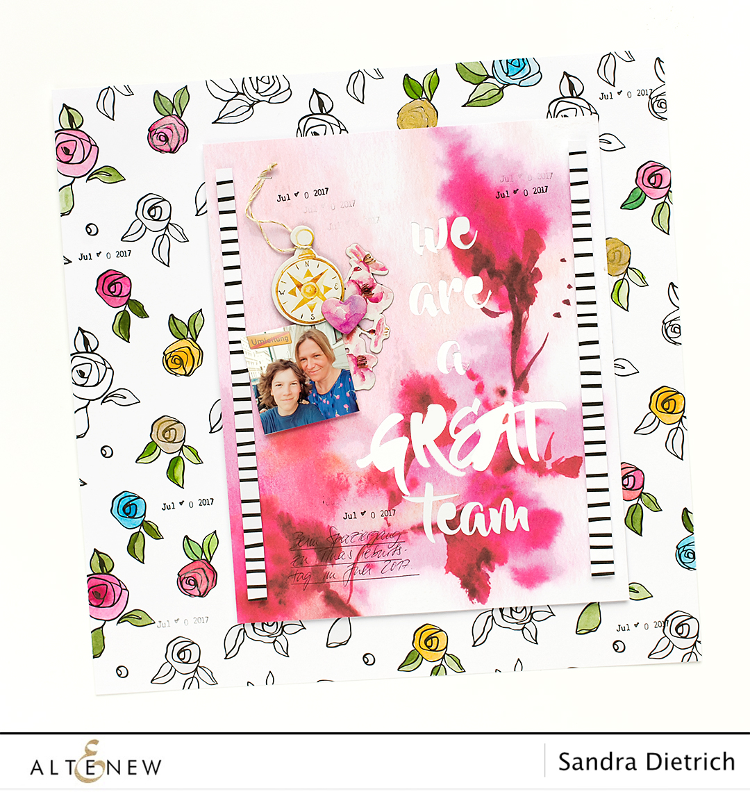 Scrapbook Page with Die-Cut Title @SandraDietrich for @Altenew
