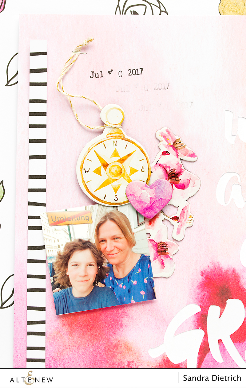 Details Scrapbook Page with Reflection Scrapbook Kit @SandraDietrich for @Altenew