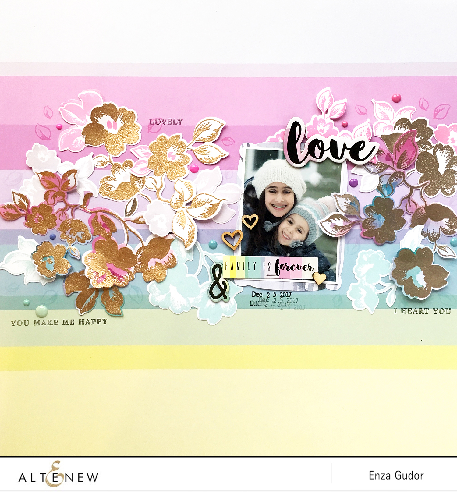 Frosted Garden Layout @altenew @enzamg #scrapbooking #layout