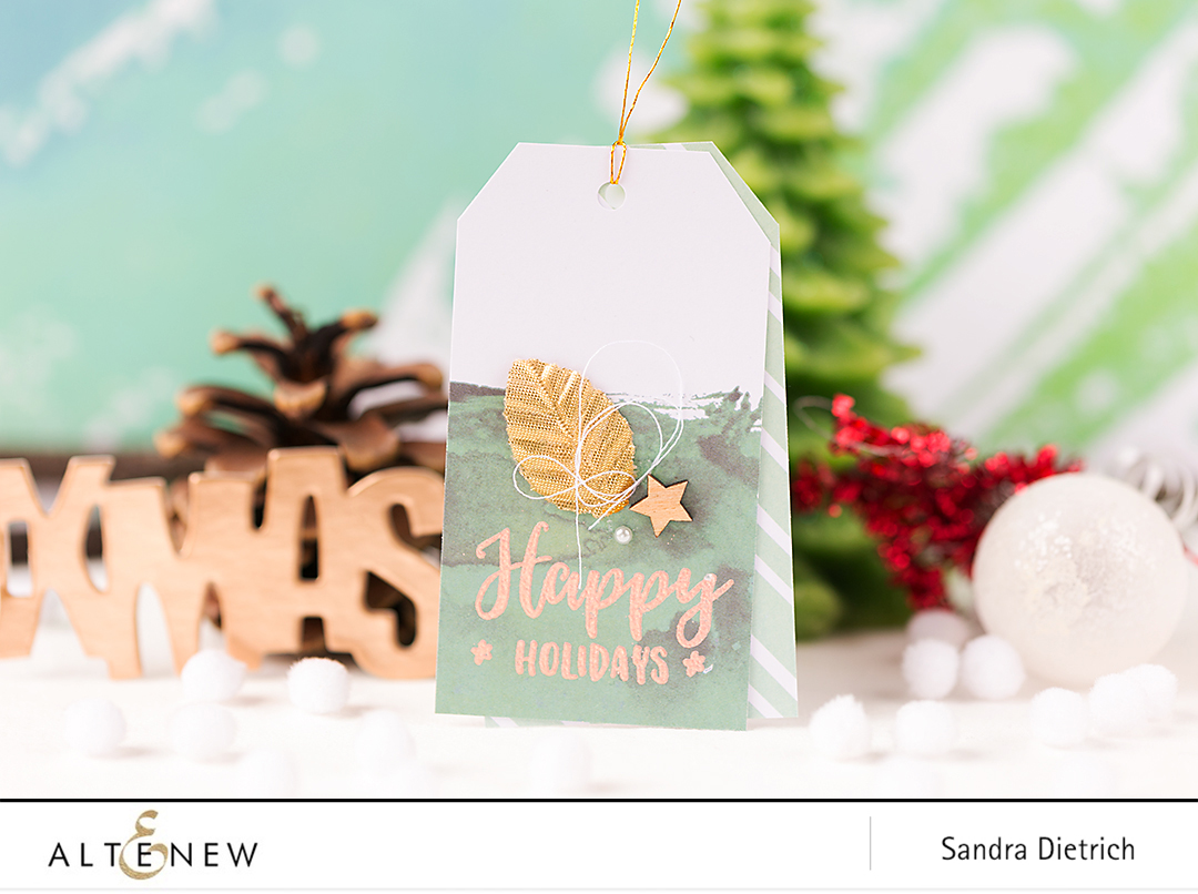 Festive Tags Happy Holidays @SandraDietrich for @Altenew