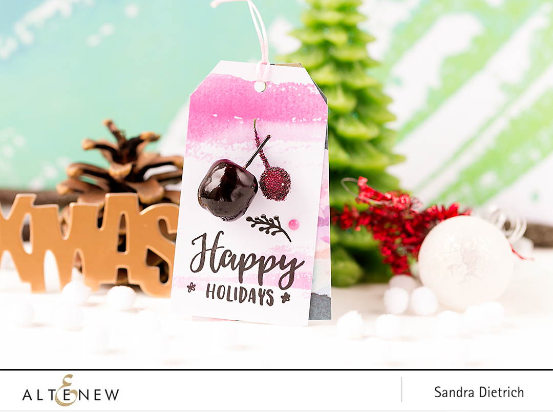 Festive Tags by @SandraDietrich for @Altenew