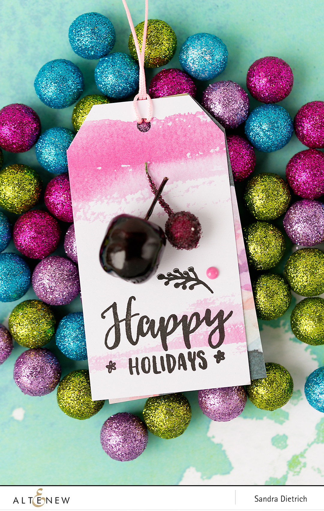 Festive Tags for Christmas @SandraDietrich for @Altenew