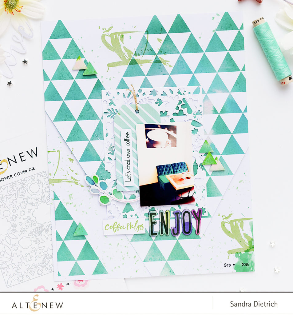 Layout Inspiration Our Family Scrapbook Collection @SandraDietrich for @Altenew