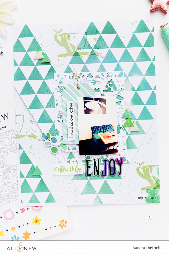Spring Cover Die Scrapbook Layout @SandraDietrich for @Altnew