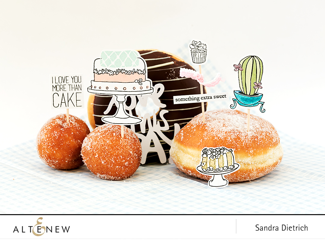 Cake Toppers with Cake Love @SandraDietrich for @Altenew