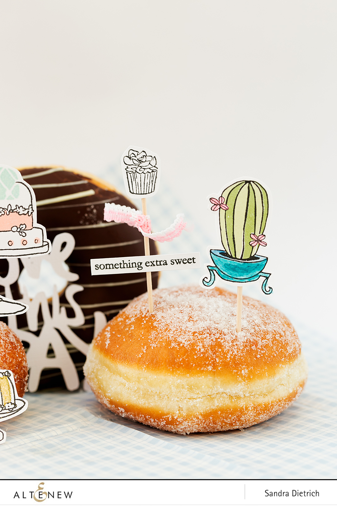 Stamped Cake Toppers @SandraDietrich for @Altenew