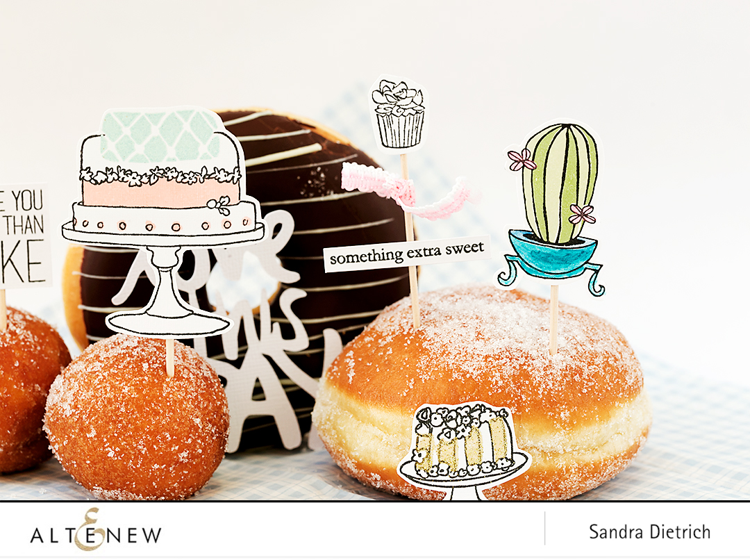 Stamp your cake toppers with Altenew @SandraDietrich for @Altenew
