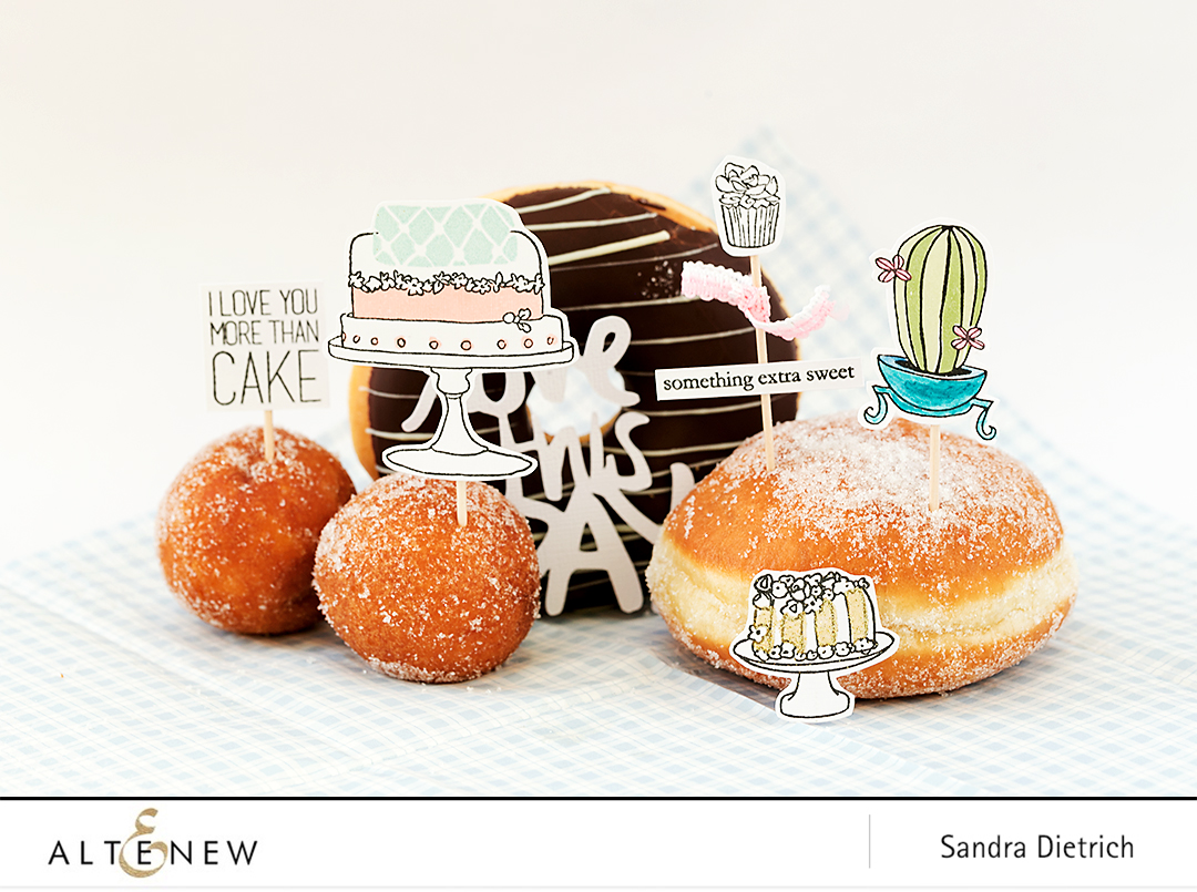 Stamped Cute Cake Toppers @SandraDietrich for @Altenew