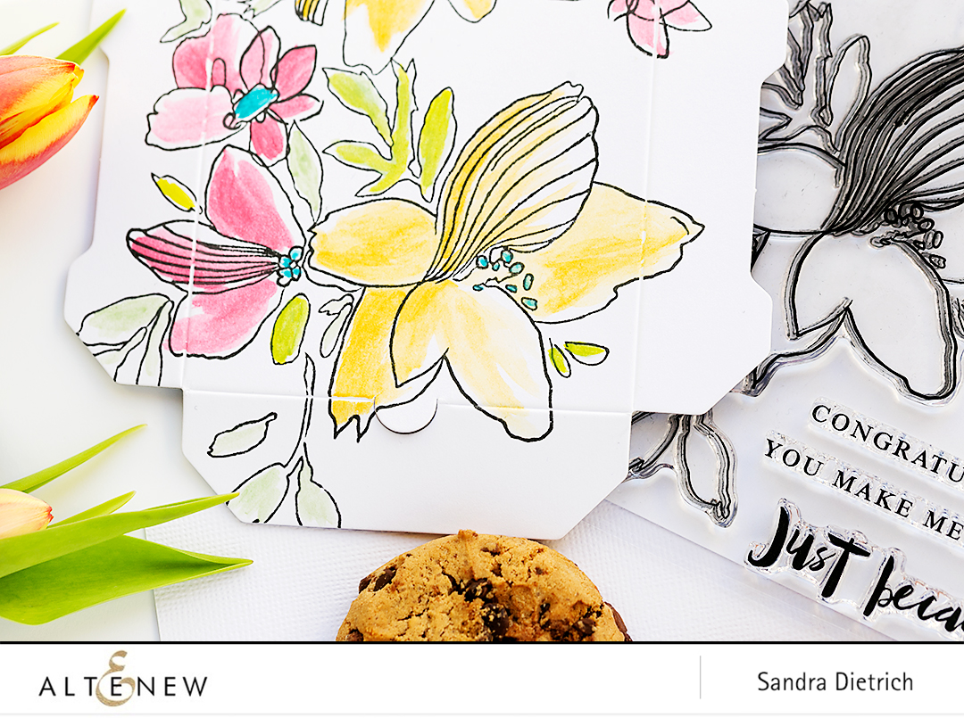 Floral Sketchy Stamp Set @SandraDietrich for @Altenew