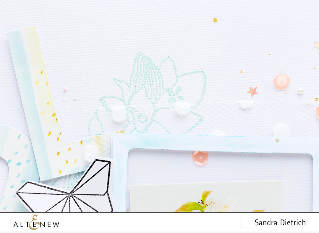 Embossed Detail Scrapbook Layout @SandraDietrich for @Altenew