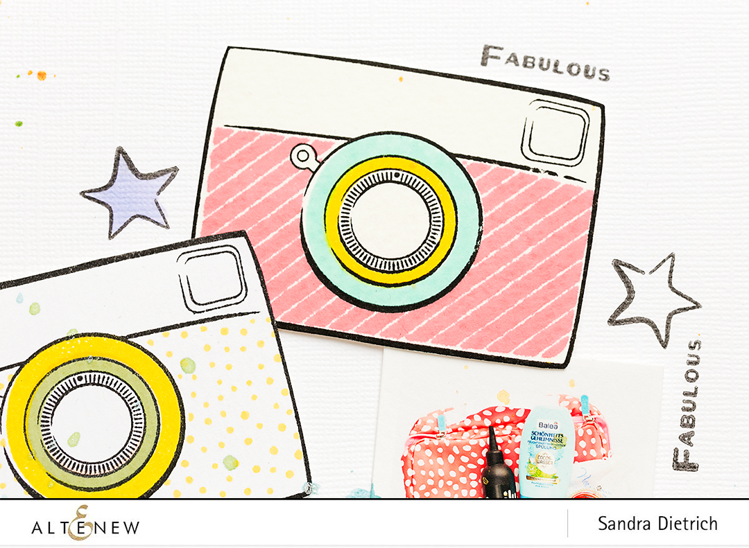 Snapshots Camera Dye Ink @SandraDietrich for @Altenew