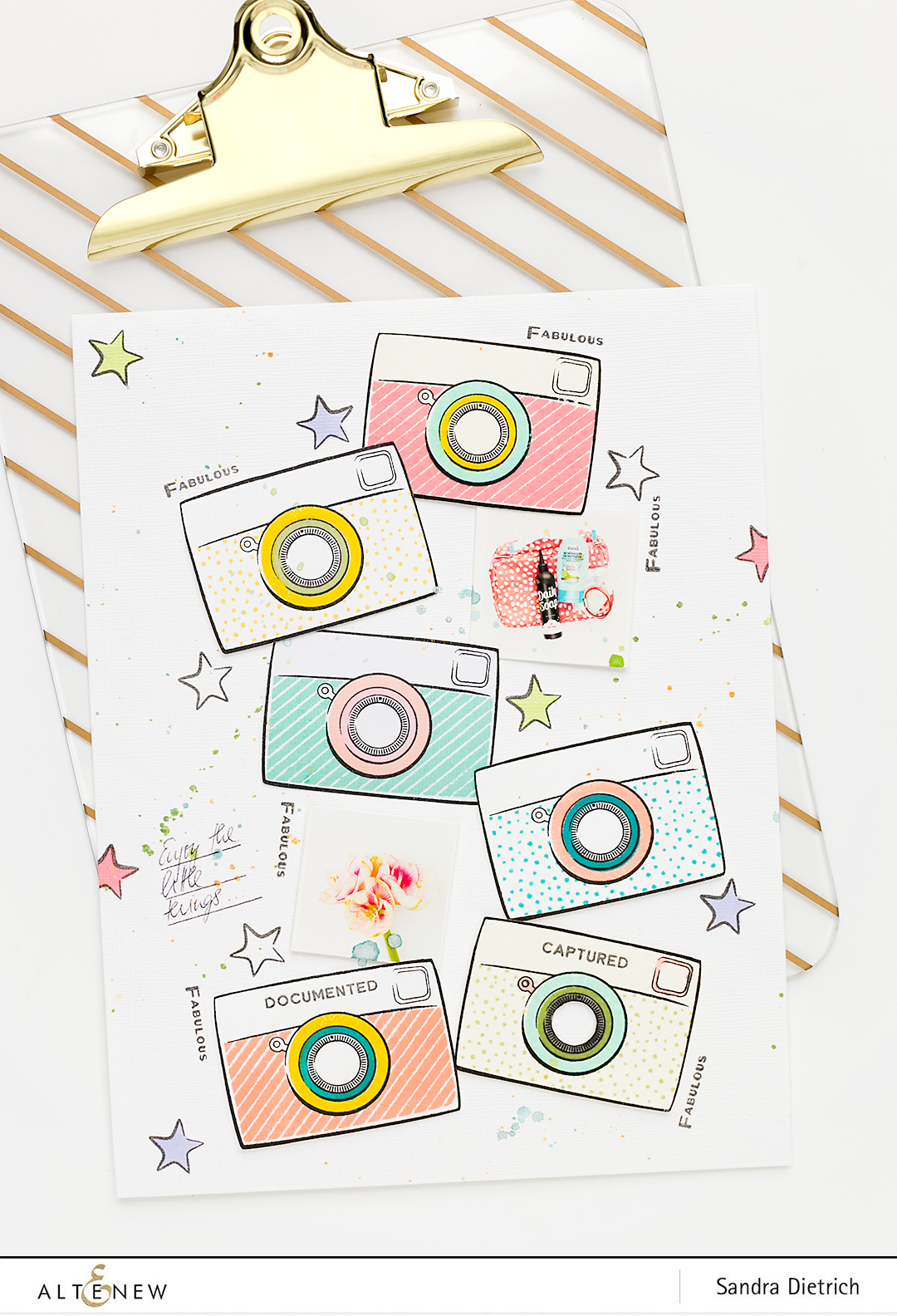Scrapbook Layout Snapshots Stamp Set @SandraDietrich for @Altenew
