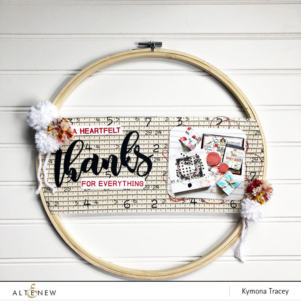 Mega Thanks Die embroidery hoop