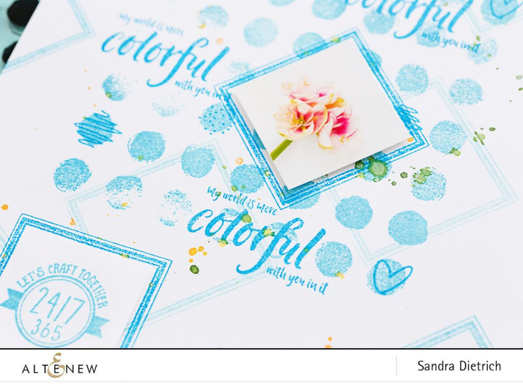 Watercolor Dots Stamp Set @SandraDietrich for @Altenew