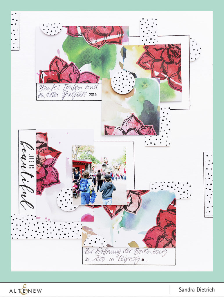 Fancy Background Elements with Patterned Paper and Dies @SandraDietrich for @Altenew