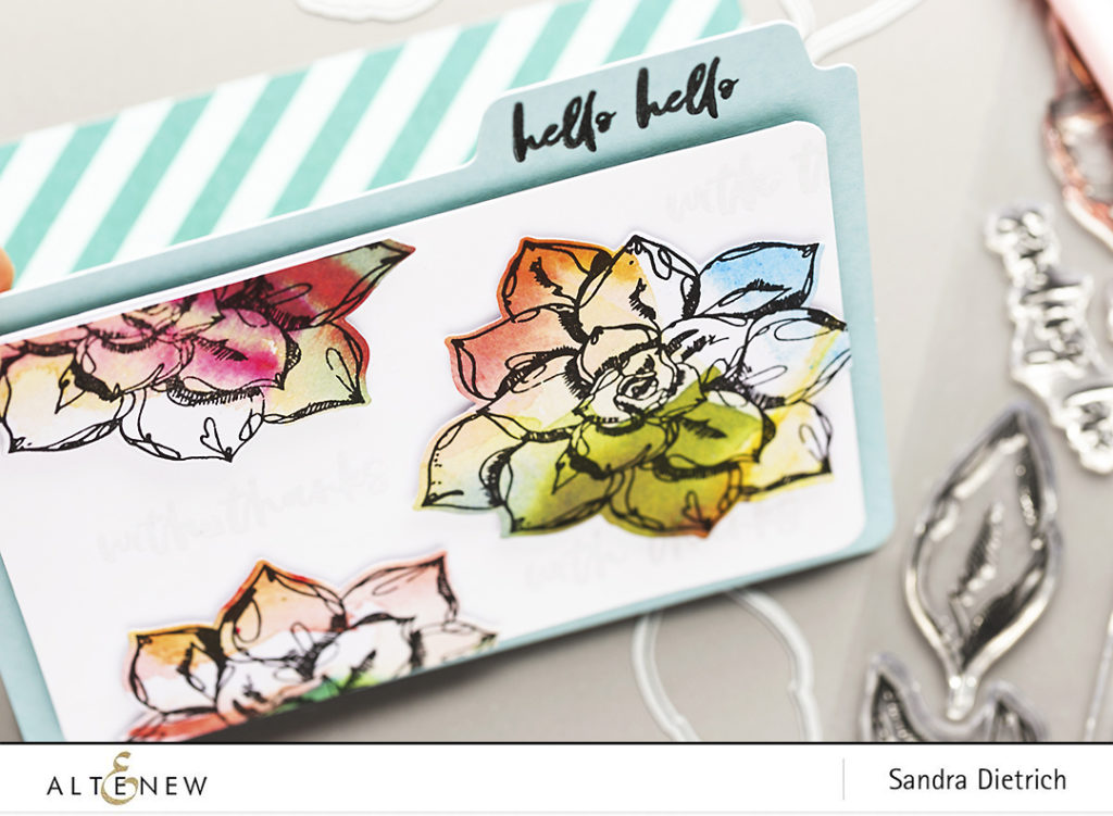 Easy DIY Folder with Inked Flora Stamp Set @SandraDietrich for @Altenew