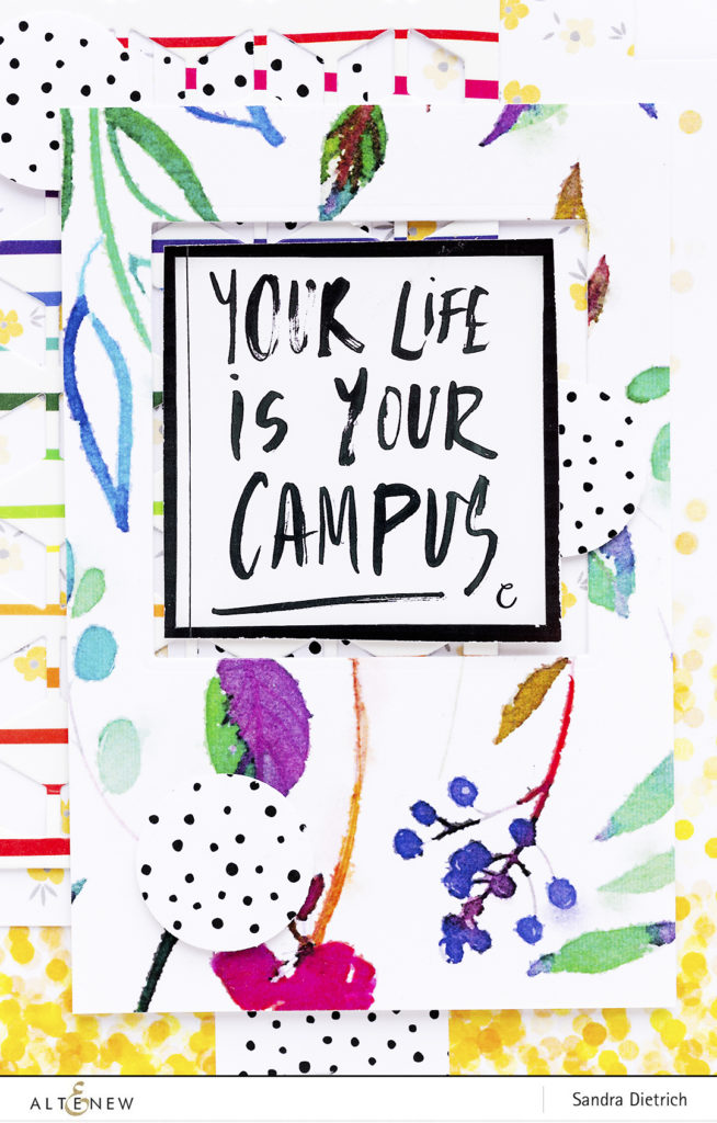 Your life is your campus with Washi Tape @SandraDietrich for @Altenew