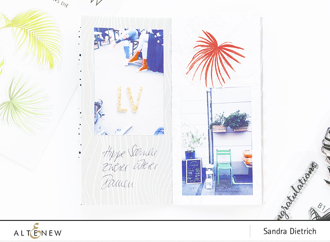 Inside Pages Mini Album with Wild Ferns Stamp Set @SandraDietrich for @Altenew