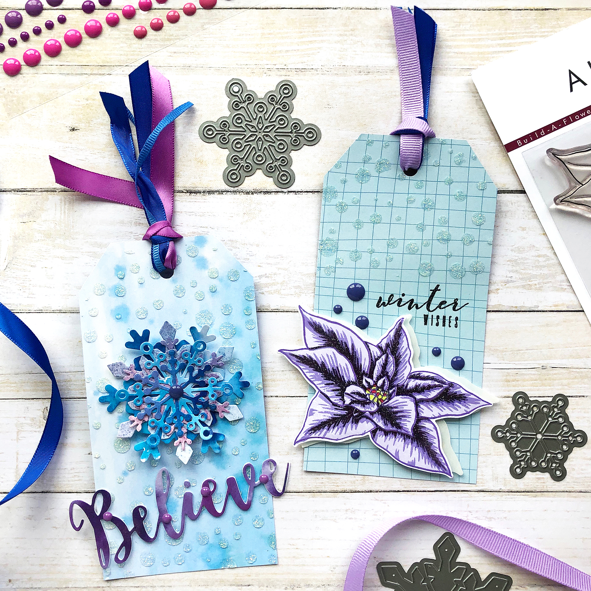 Winter tags by @enzamg for @altenew. #papercraft #gifttags #tags #christmas #holidays