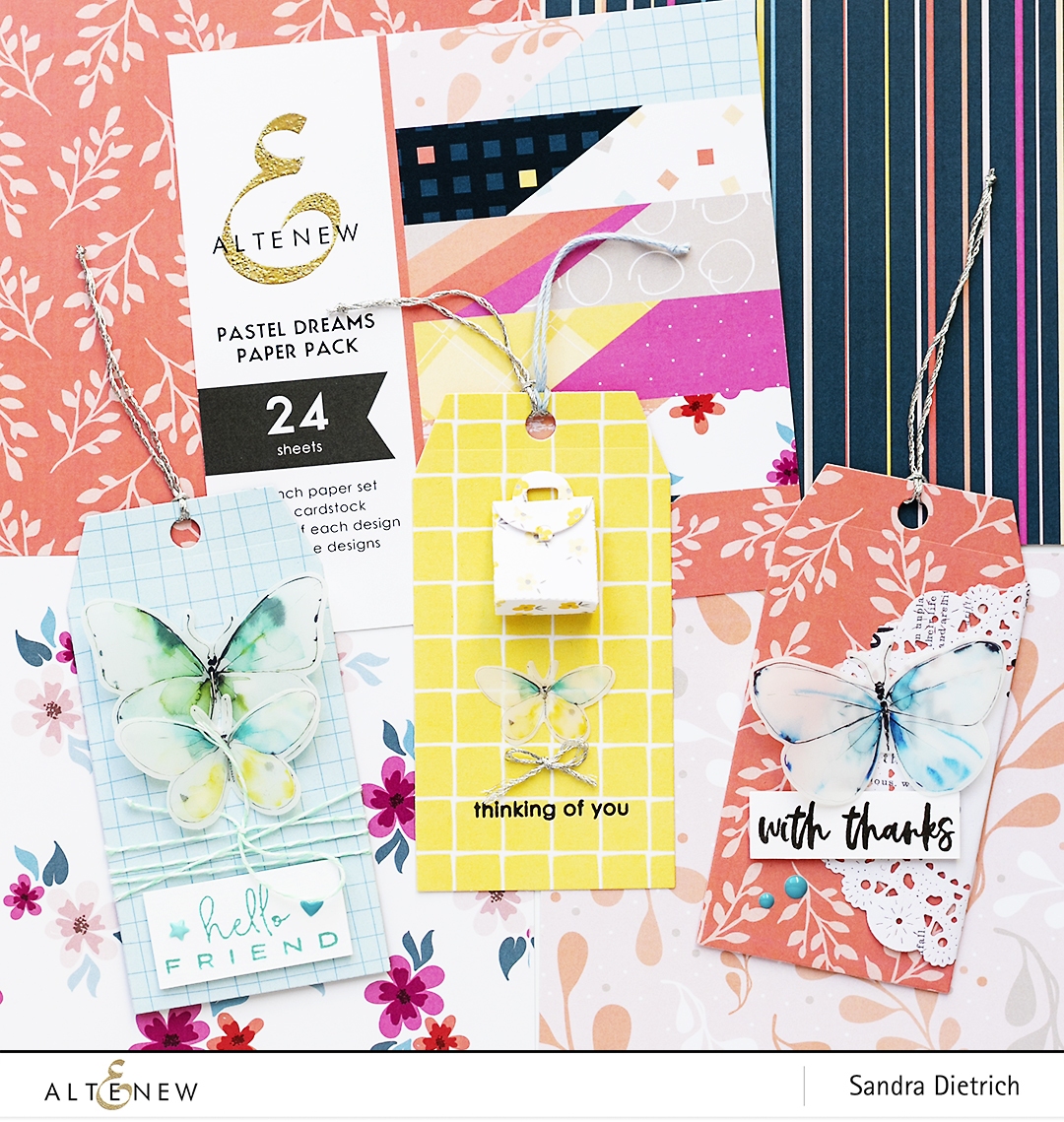 Pastel Dreams Paper Pack Gift Tags @SandraDietrich for @Altenew