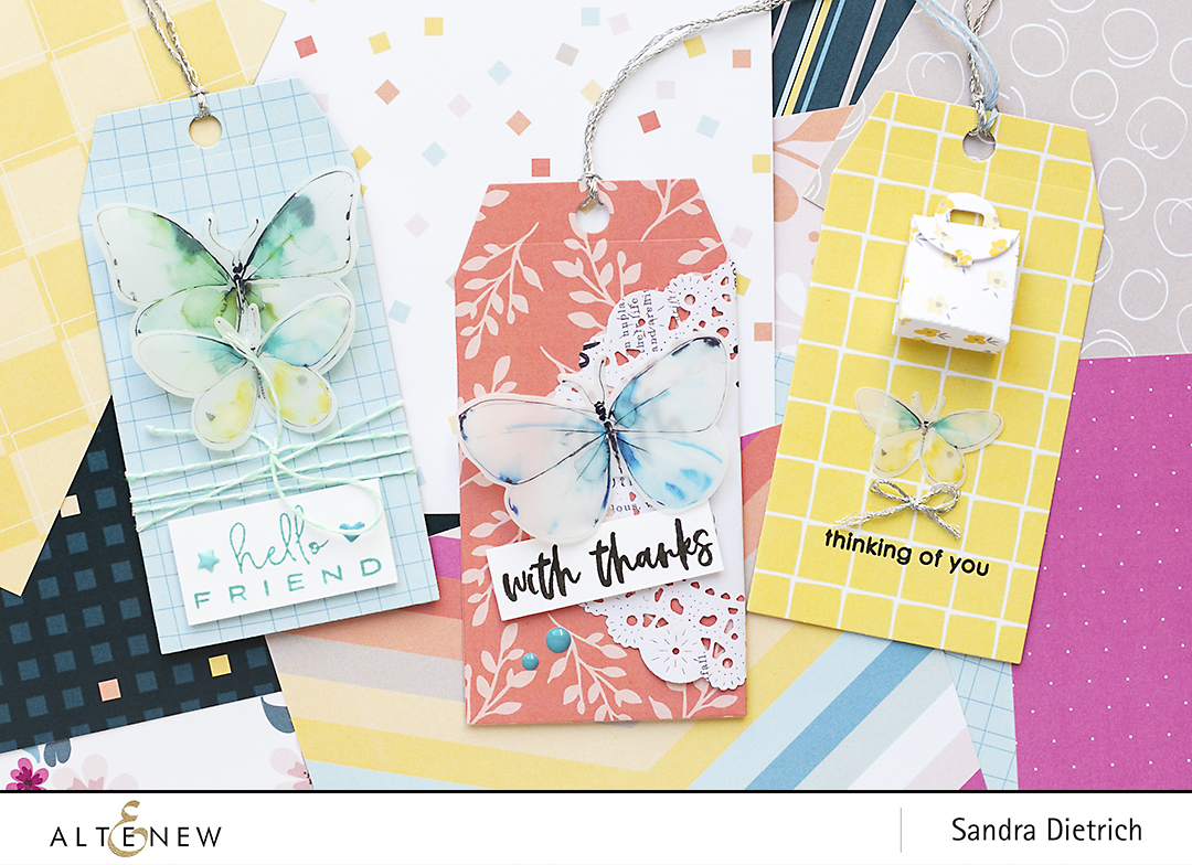 Pastel Dreams Paper Pack Three Gift Tags @SandraDietrich for @Altenew