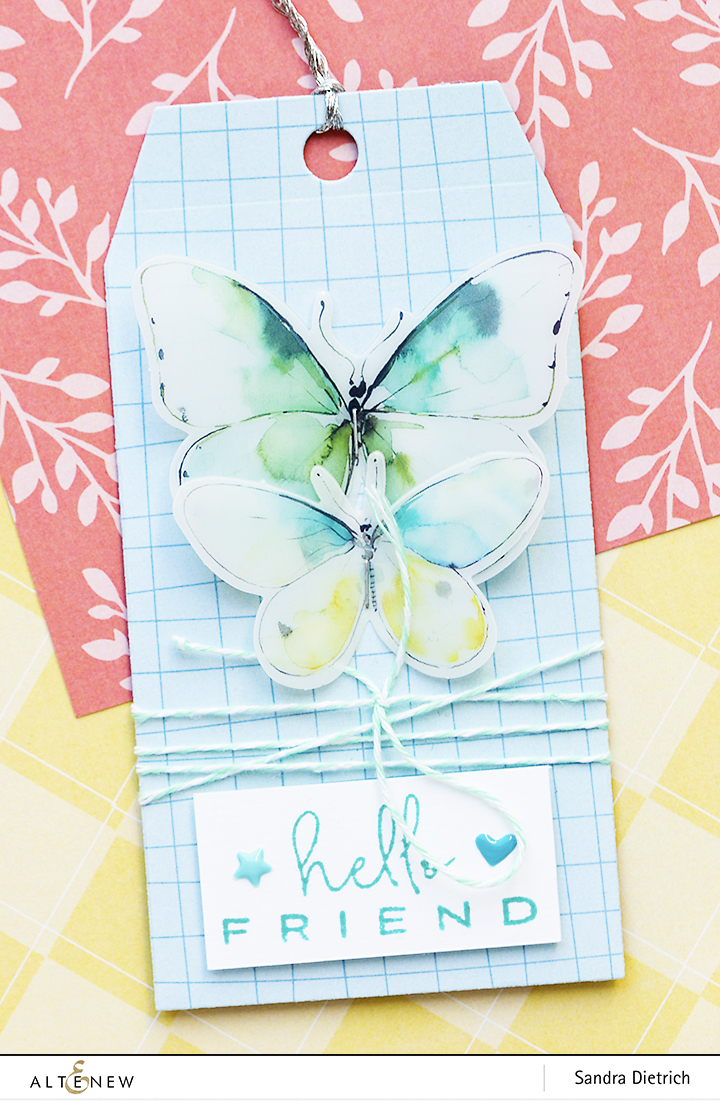 Hello Friend Gift Tag with Pastel Dreams Paper Pack @SandraDietrich for @Altenew
