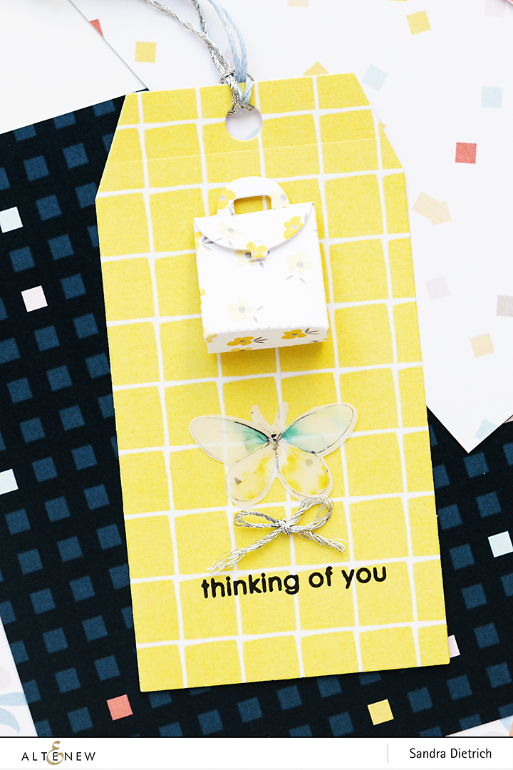 Thinking of you Gift Tag with Pastel Dreams Paper Pack @SandraDietrich for @Altenew