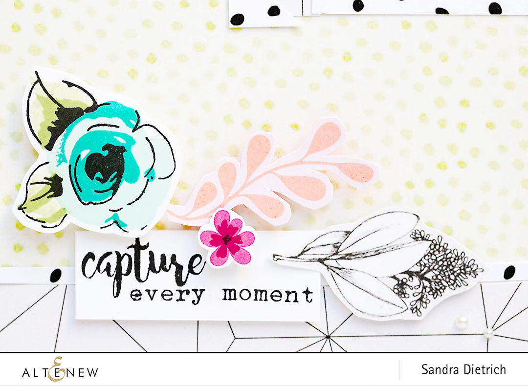 Capture every moment and Painted Flowers Stamp Set Detail @SandraDietrich for @Altenew