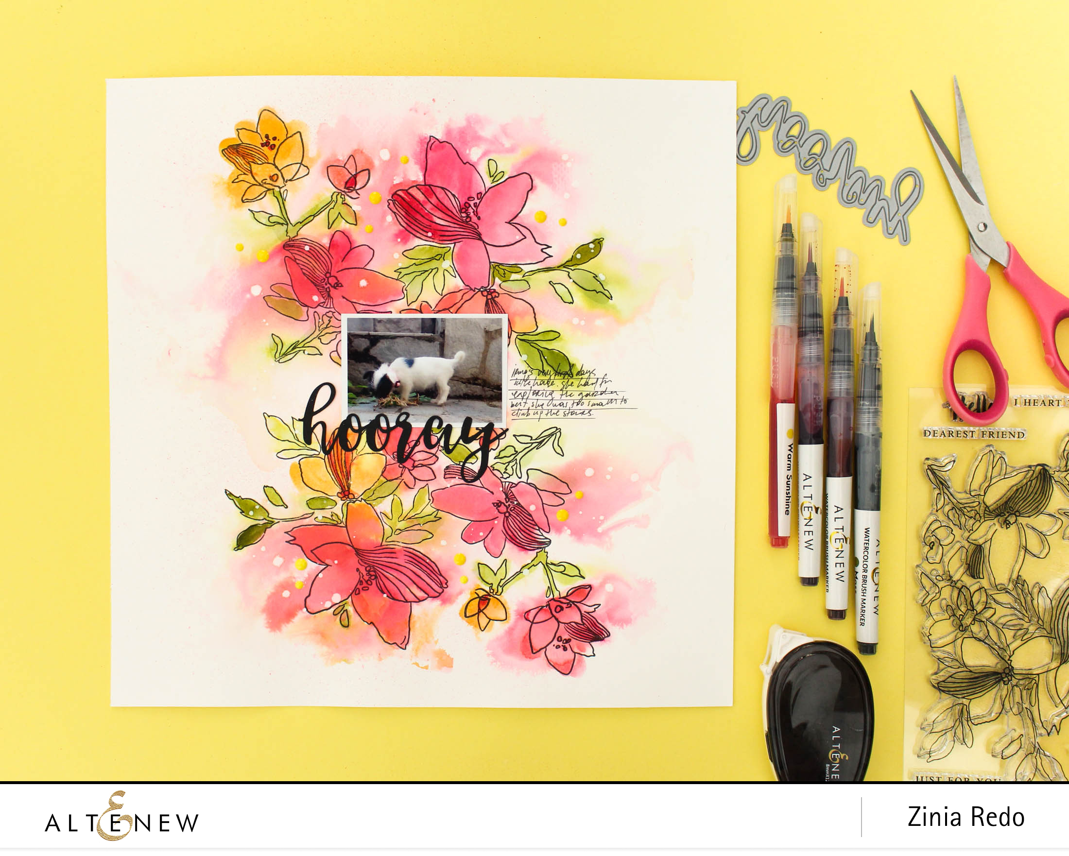 Coloring Outside the Lines @ziniaredo @altenewllc #altenew #scrapbook #scrapbooking #watercolor #watercolors