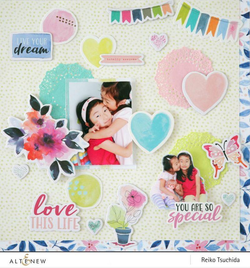 Altenew-Live Your Dream Scrapbook Collection-Reiko Tsuchida1