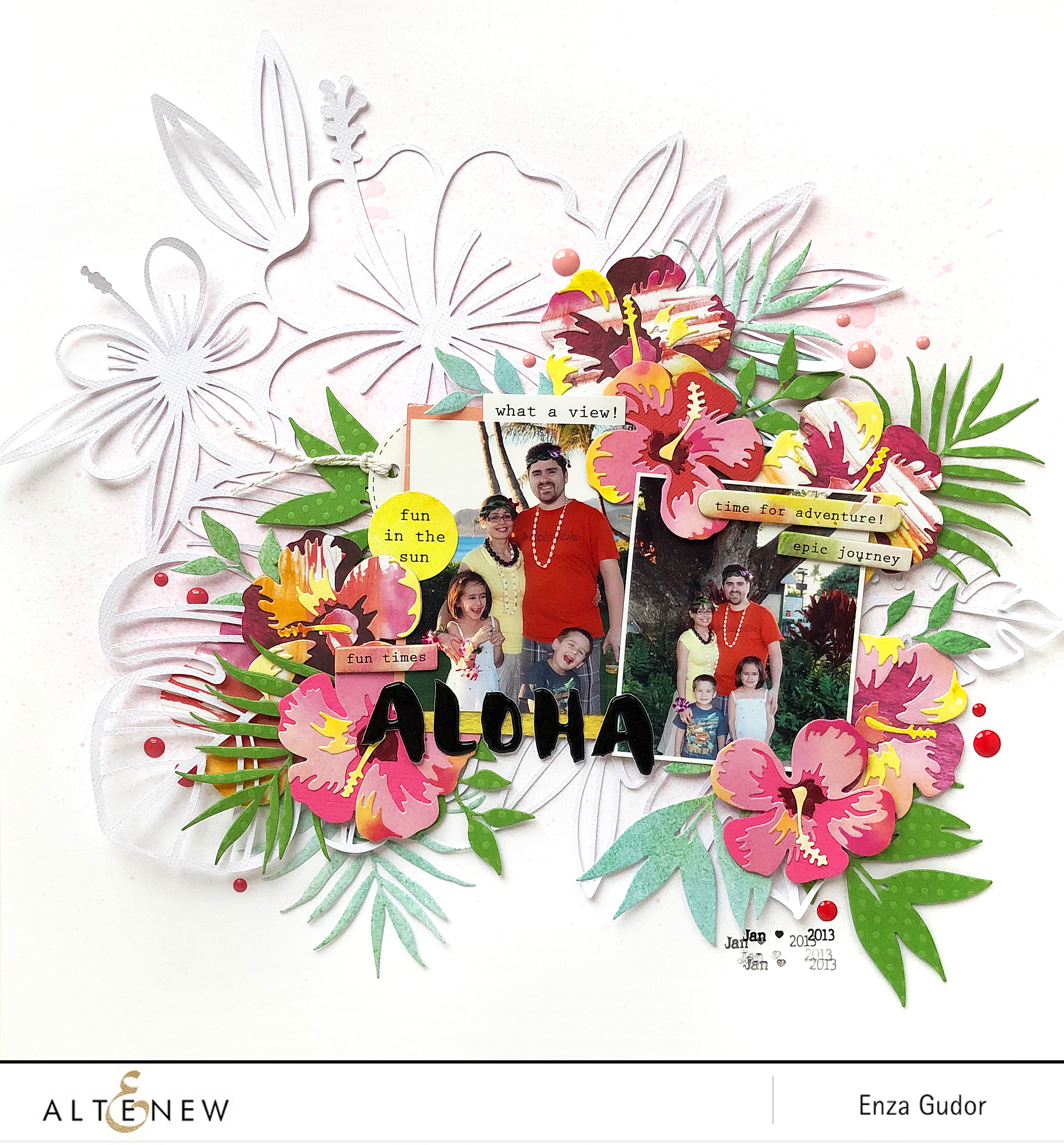 Die Highlight Hibiscus Garden 3d Die Set Altenew Scrapbook