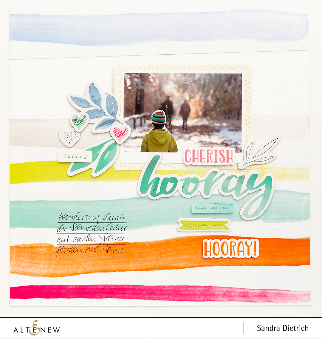 Inspiration with Live Your Dream Scrapbook Layout Hooray @SandraDietrich for @Altenew