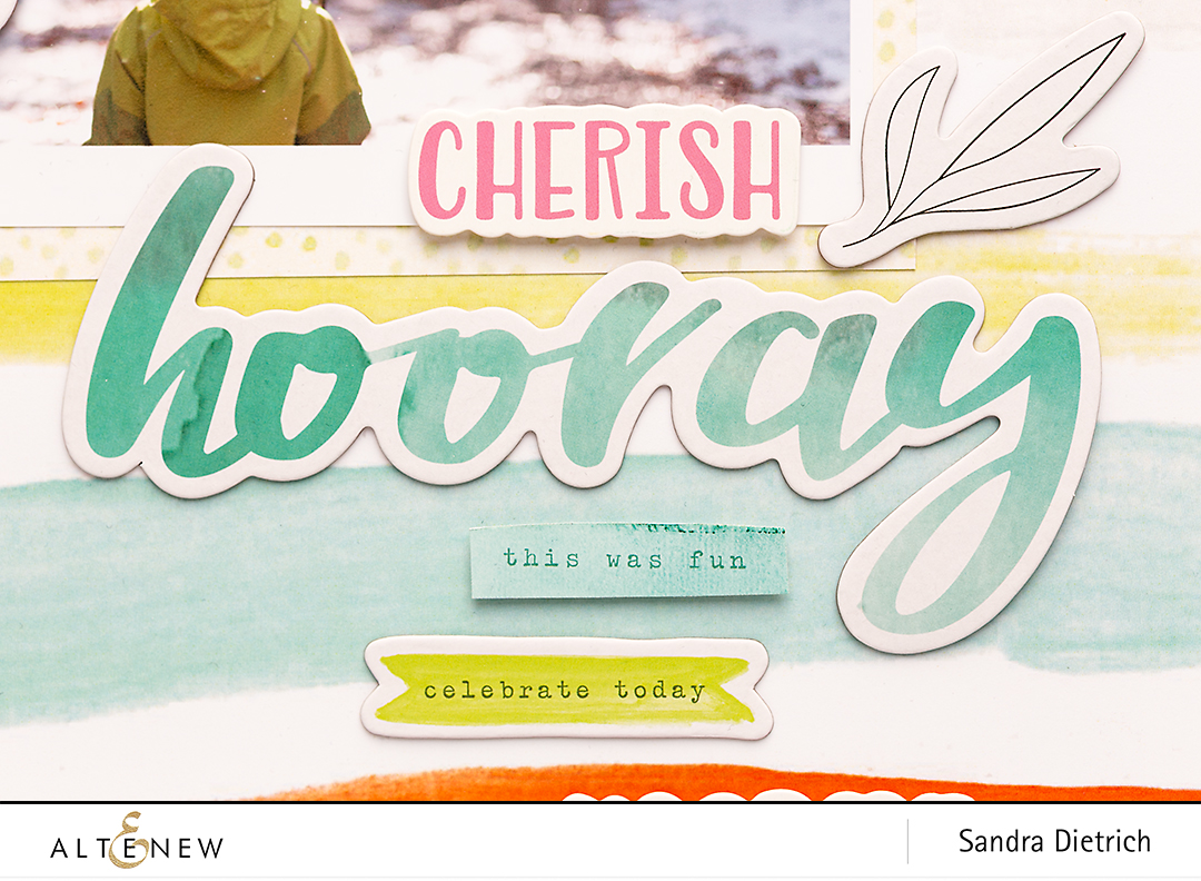 Detail Inspiration with Live Your Dream Scrapbook Layout Hooray @SandraDietrich for @Altenew