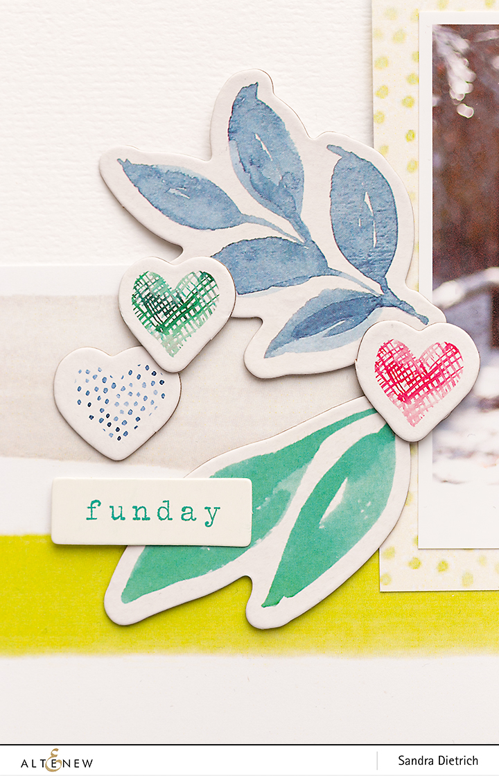 Chipboard Stickers Live Your Dream Scrapbook Layout Hooray @SandraDietrich for @Altenew