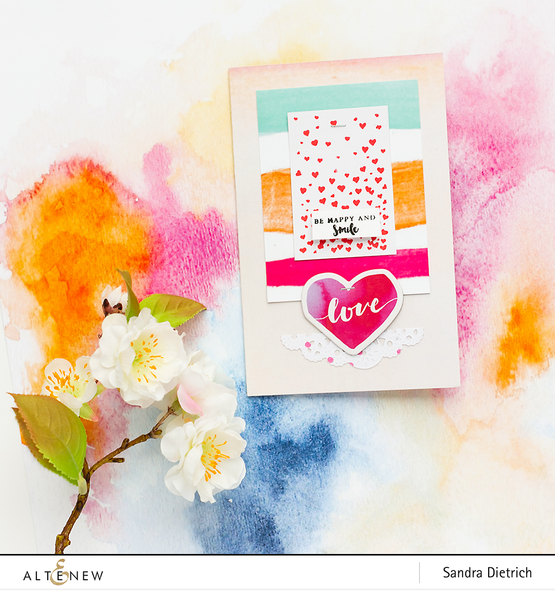 Cardmaking Inspiration with Live Your Dream @SandraDietrich for @Altenew