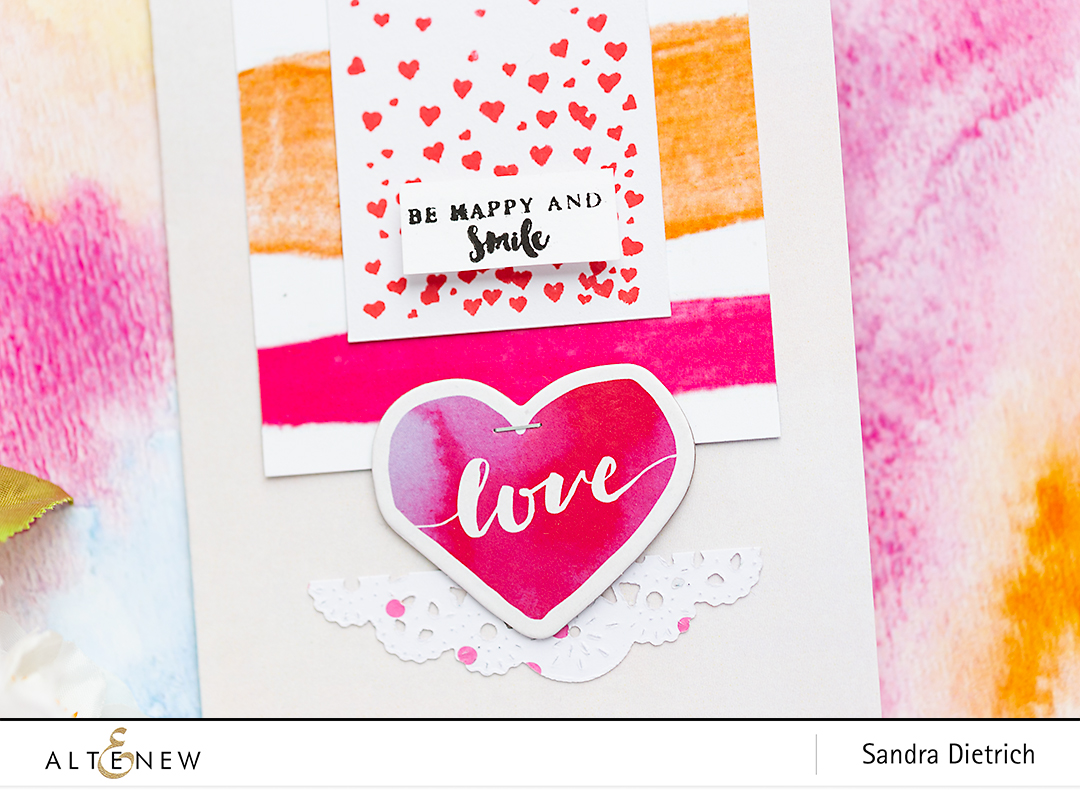 Detail Cardmaking Inspiration with Live Your Dream @SandraDietrich for @Altenew