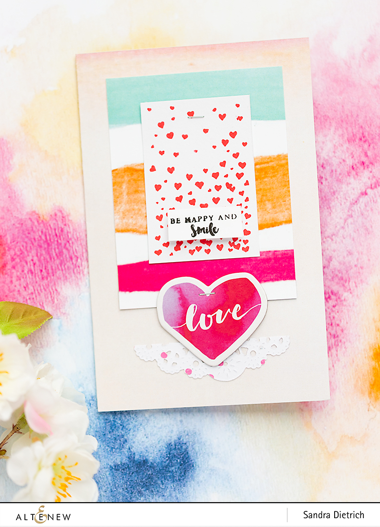 Card Love Inspiration with Live Your Dream @SandraDietrich for @Altenew