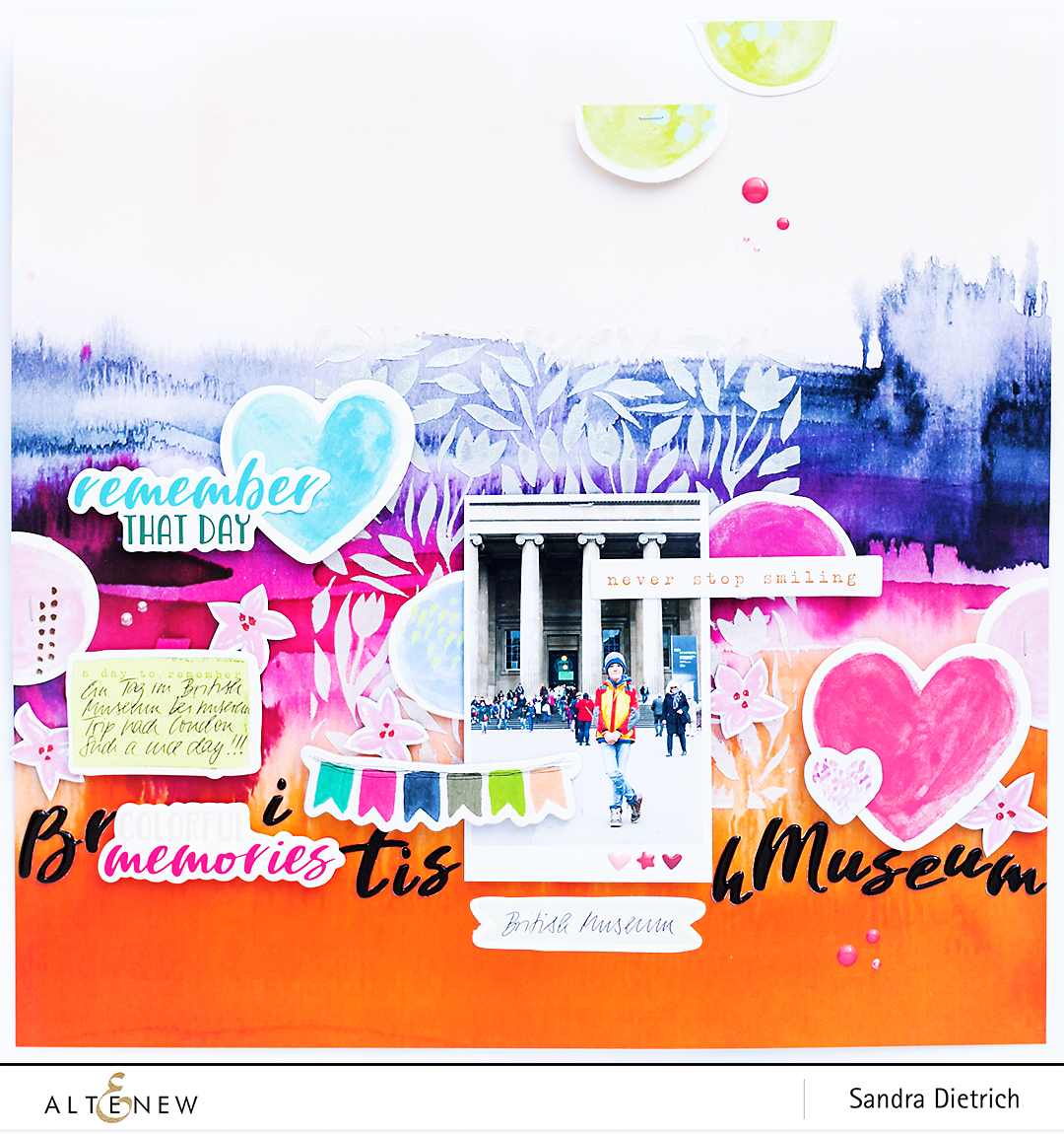 Scrapbook Layout Inspiration with Live Your Dream @SandraDietrich for @Altenew