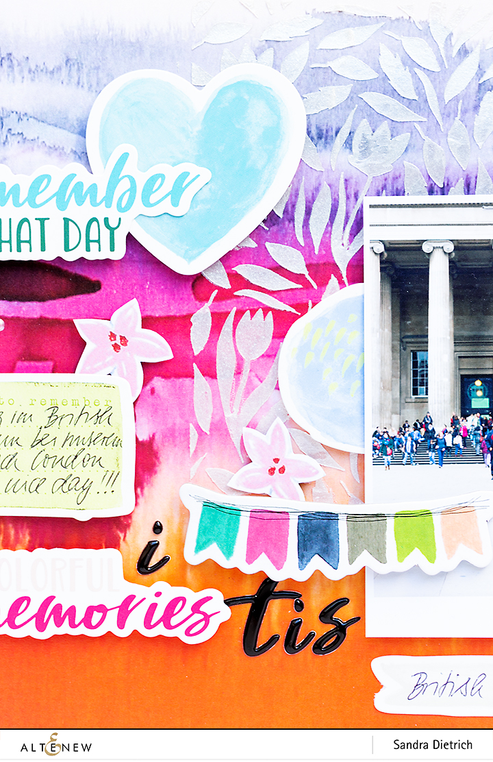 Scrapbook Layout Detail Inspiration with Live Your Dream @SandraDietrich for @Altenew